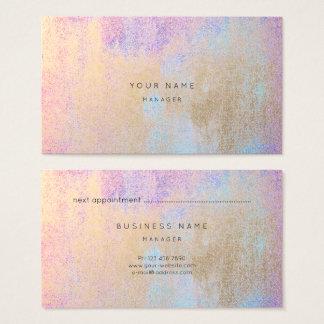 Tarjeta azul rosada de la cita de Tiffany del oro
