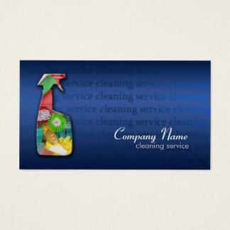 Tarjeta azul simple de la empresa de servicios de