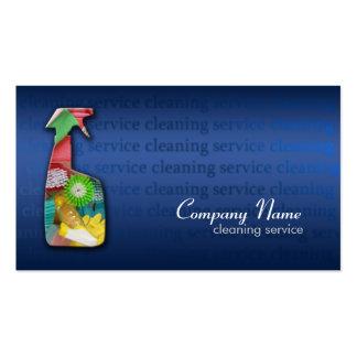 Tarjeta azul simple de la empresa de servicios de  tarjetas de visita