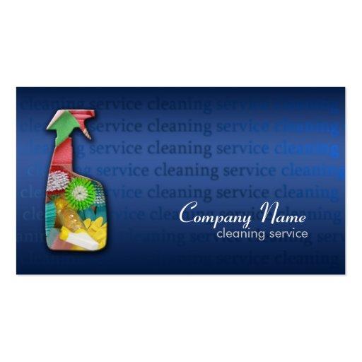 Tarjeta azul simple de la empresa de servicios de  tarjetas personales