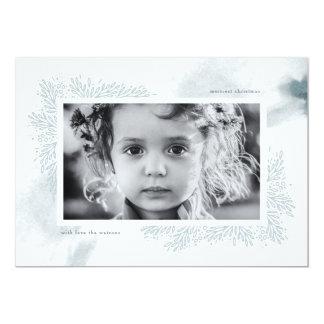 Tarjeta azul suave de la foto del navidad de la