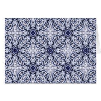 Tarjeta azul y blanca de la elegancia delicada