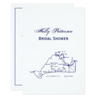 Tarjeta Azules marinos del mapa #1 del vintage del