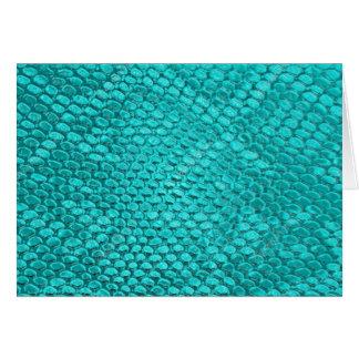 Tarjeta Azules turquesas del reptil