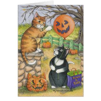 Tarjeta B y nota de T #34 Halloween
