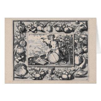 Tarjeta Bacchus/dios de Dionysus del vino