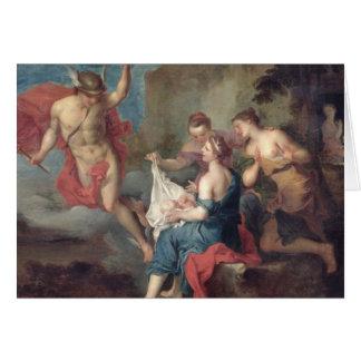 Tarjeta Bacchus entregado a las ninfas de Nysa