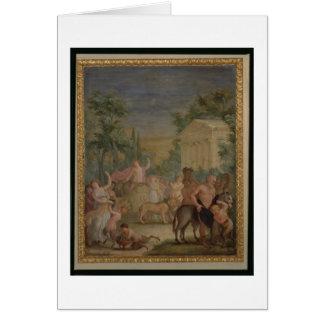 Tarjeta Bacchus y Ariadne (aceite en lona) 2