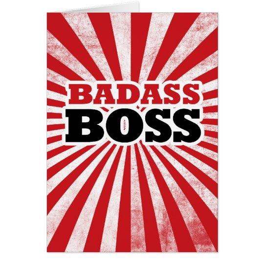 Tarjeta Badass Boss divertido