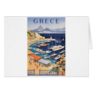 Tarjeta Bahía 1955 de Grecia Atenas del poster del viaje