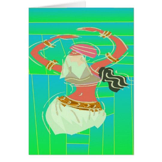 Tarjeta Bailarina de la danza del vientre exótica