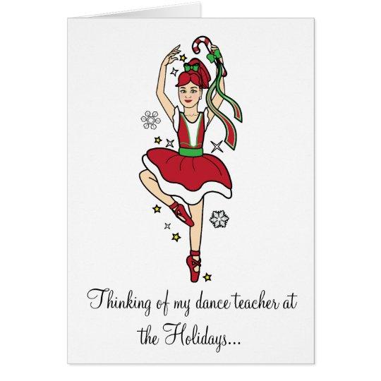 Tarjeta Bailarina del profesor de la danza de los días de