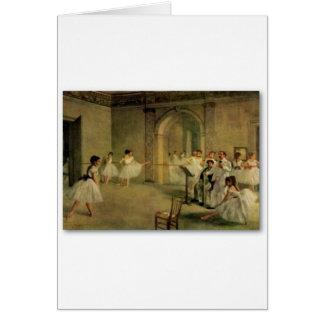 Tarjeta Bailarinas de Edgar Degas