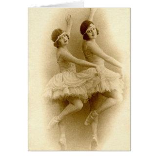Tarjeta Bailarinas del vintage