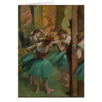 Tarjeta Bailarines de las ilustraciones del ballet rosados