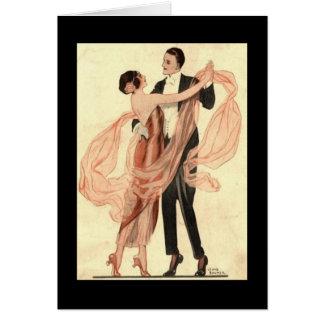Tarjeta Baile de los pares de Edwardian del Victorian