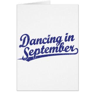 Tarjeta Baile en septiembre en azul
