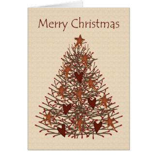 Tarjeta baja de Vision del árbol de navidad