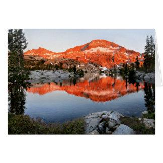 Tarjeta Baje la puesta del sol del lago Ottoway - Yosemite