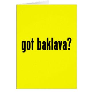 Tarjeta ¿baklava conseguido?
