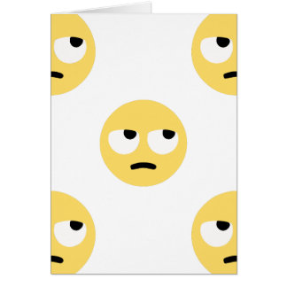 Tarjeta balanceo del ojo del emoji