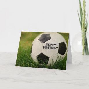 Feliz cumpleanos pelota de futbol