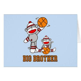 Tarjeta Baloncesto hermano mayor de Sockmonkey