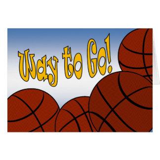 Tarjeta ¡Baloncesto - manera de ir! ¡Congrats!