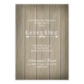 Tarjeta banal rústica de la recepción invitación 8,9 x 12,7 cm