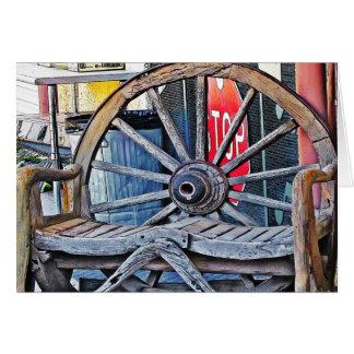 Tarjeta Banco de la rueda de carro, alpino, TX