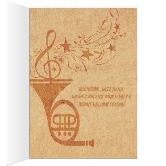 Tarjeta Banda de jazz de la trompa de la música clásica