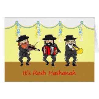 Tarjeta Banda de Klezmer para Rosh Hashanah, Año Nuevo