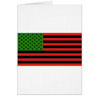 Tarjeta Bandera afroamericana - negro y verde rojos
