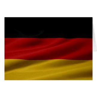 Tarjeta Bandera alemana