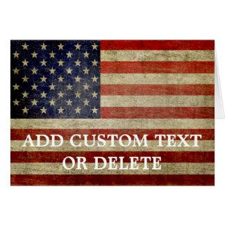 Tarjeta Bandera americana resistida, apenada