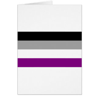 Tarjeta Bandera asexual del orgullo