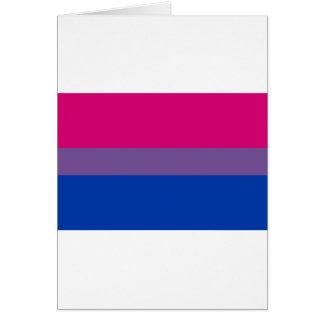 Tarjeta Bandera bisexual del arco iris del orgullo de LGBT