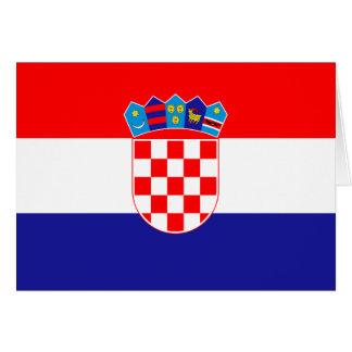 Tarjeta Bandera croata patriótica