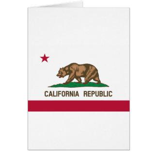 Tarjeta Bandera de California
