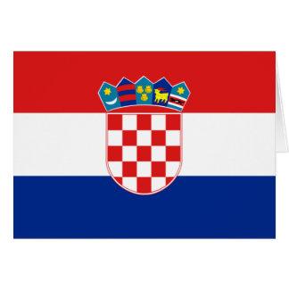 Tarjeta Bandera de Croacia