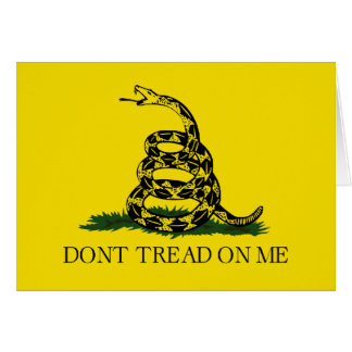 Tarjeta Bandera de Gadsden - no pise en mí
