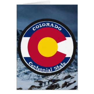 Tarjeta Bandera de la circular de Colorado