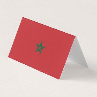 Tarjeta Bandera de Marruecos