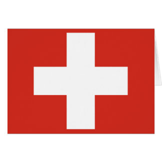 Tarjeta Bandera de Suiza