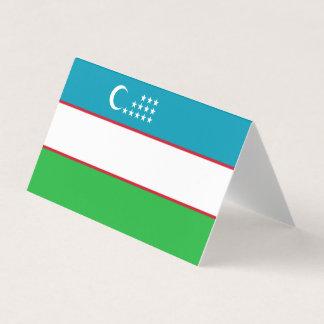 Tarjeta Bandera de Uzbekistán