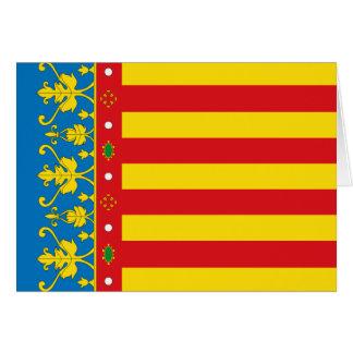 Tarjeta Bandera de Valencia