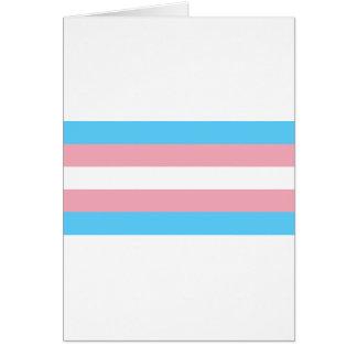 Tarjeta Bandera del orgullo del transexual - arco iris del
