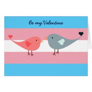 Tarjeta Bandera del orgullo del transexual con los