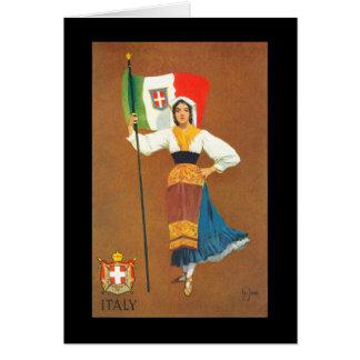 Tarjeta Bandera del Reino de Italia