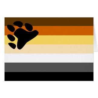 Tarjeta Bandera gay del orgullo del oso - LGBT lleva el